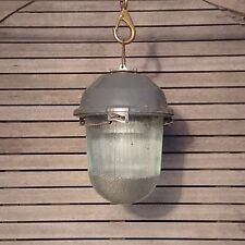 Industrial Light Factory Bunker Lamp Pendant Ceiling Glass Dome