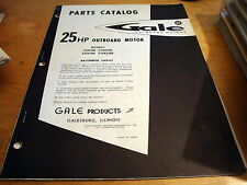 Gale 25 HP Outboard Motor Parts Catalog Manual 25D18B 25DL18B 25DE18B 25DEL18B