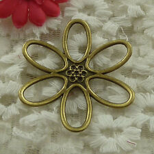 free ship 18 pieces bronze plated flower connector 49mm #3154