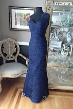 A1047 JOVANI 158468 NAVY NAVY SIZE 4 $470 NEW  FORMAL PARTY DRESS GOWN
