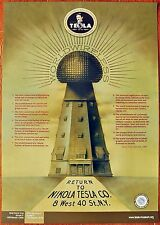 NIKOLA TESLA POSTER The World System of wireless transmission 26.8 in x 19 in