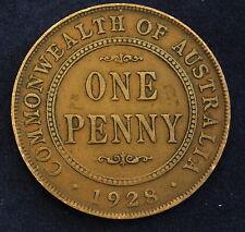 1928-AUSTRALIA- PENNY-BETTER GRADE ^