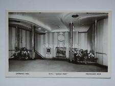 QUEEN MARY Cunard nave ship liner paquebot lloyd old postcard entrance hall *