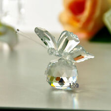 New Clear Crystal Glass Cut Lovely Small Butterfly Parked Ball Child Gift Deco