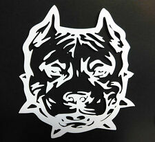 """PIT BULL DOGS & PUPPIES TRIBAL HEAD VINYL DECAL STICKER 5 1/2"""" INCH"""