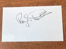 Roy E Disney INDEX Card Signed Autographed Rare  JSA COA