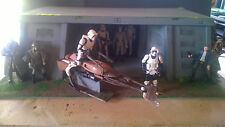 "Star Wars custom made Endor base for 3.75"" figure diorama"