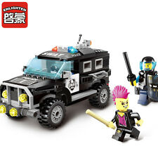 City Series:Building toys Riot police car gift 190pcs fit lego 1110