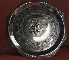 Antique Silver Salver Tray Sri Lanka. c1910. 1112 gms