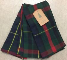 Well Dressed Home Christmas Blue Green Red Tartan Plaid Cloth Napkins Set 4