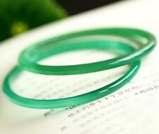 Vintage Chinese Natural Icy Green Jadeite Jade A Grade Bangle Bracelet 54mm