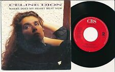 """CELINE DION 45 TOURS 7"""" HOLLANDE WHERE DOES MY HEART BEAT NOW"""