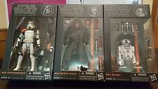 Star Wars Black Series 6 inch Wave 1 lot, Darth Maul, R2-D2, and Sandtrooper!