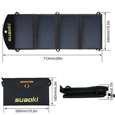 25W Portable Folding Solar Panel Battery Charger For Military Outdoor Sports US