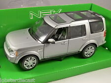2010 LAND ROVER DISCOVERY 4 in Silver 1/24 scale model by WELLY