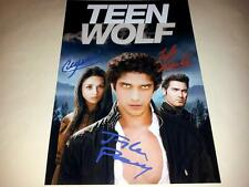 "TEEN WOLF CASTX3 PP SIGNED 12""X8"" INCH POSTER TYLER POSEY CRYSTAL REED N2"