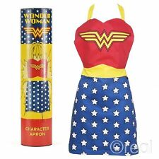 New DC Comics Wonder Woman Costume Apron In A Tube Kitchen BBQ Retro Official