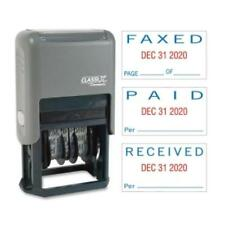 """Xstamper Self-inked Stamp - Message/date Stamp - """"paid, Faxed, Received"""" - 0.93"""""""