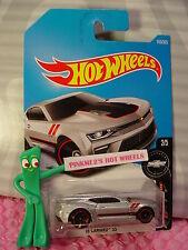 '16 CAMARO SS #155✰silver chevy;red rim mc5✰Fifty✰2017 i Hot Wheels case G