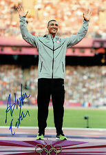 Ashton EATON Autograph Signed 12x8 Photo AFTAL COA USA Decathlon Gold Medal