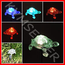 Solar Powered Turtle Garden Yard Stake Pathway Lawn Patio Light Sun Power LED i