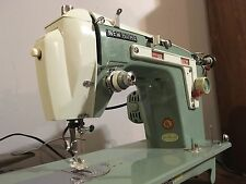 Beautiful Art Deco Vintage Heavy Duty Janome New Home Sewing Machine