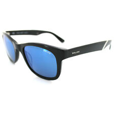 Police Sonnenbrille 1715 700B Shiny Black Grey Blue Mirror