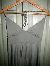 50's Style 8 Light Khaki Green Pad Cup Pleat Full Pleat Rope Halter Dress