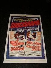 BILLY THE KID VS DRACULA/JESSE JAMES VS FRANKENSTEIN'S DAUGHTER Original Poster