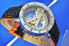 Modern Retro EYE CATCHING Bridge Steampunk Skeleton Automatic Mechanical Watch