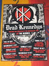DEAD KENNEDYS - 2014  AUSTRALIAN  TOUR  -  PROMO TOUR POSTER