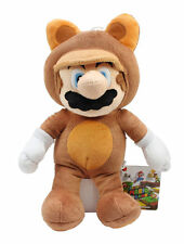 "NEW AUTHENTIC Nintendo Super Mario Bros 9"" Tanooki/Mario Stuffed Plush Doll Toy"