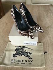 Burberry Ladies Animal Print Calf Hair Shoes - UK7 EU40 US9 - BNIB