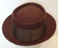 Vintage Brown Wool Felt Stetson Royal Deluxe Hat 7 1/8