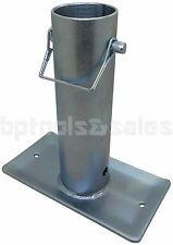 """RV Trailer Canopy 7-1/2"""" Tongue Jack Foot Stand Foot 2,000Ibs Zinc Plated H-D"""