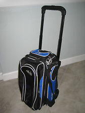 Linds Deluxe 2 Two Bowling Ball Rolling Travel Carry Luggage Storage Bag Blue Bl