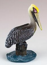 Brown Pelican Figurine Resin 3.5 Inch High New