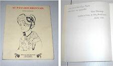 Cecile Chassaing AU PAYS BOURBONNAIS Nouvelles et Poèmes Autografo dédicacer