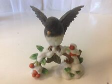 Lenox Dark Eyed Junco Fine Porcelain Garden Bird Handcrafted Figurine 1991