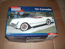 1995 MONOGRAM Model '53 CORVETTE Kit #2291 WHITE BODY - RED PARTS
