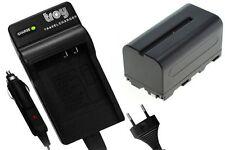 Batterie+chargeur pour SONY DCR-VX2000 DCR-VX1000 DCR-VX700 NPF750 NP-F760