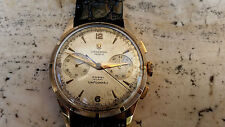 VINTAGE 1950s UNIVERSAL GENEVE UNI-COMPAX CHRONOGRAPH 18KT ROSE GOLD