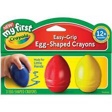 My First Crayola Easy Grip Egg Shaped Crayons 3pc-Blue, Red And Ye 071662113452