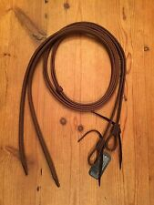 "NEW Leather Horse Waterloop Split Reins 5/8"" x 8' Amish Crafted Made USA Oiled"