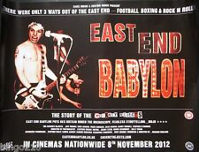 EAST END BABYLON ORIGINAL 2012 CINEMA QUAD POSTER COCKNEY REJECTS PUNK