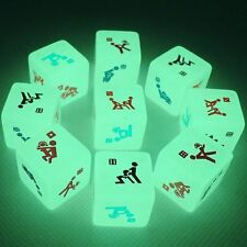 Sex Funny Noctilucent Adult Glow Dice Game Love Gambling Romance Erotic Crap Toy