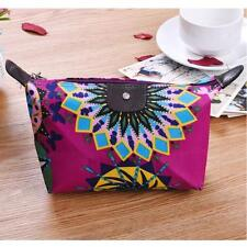 Womens Travel Make Up Cosmetic Pouch Floral Bag Clutch Handbag Casual Purse #4