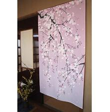 Noren - Rideau Japonais Porte / Japanese Door Curtain - Cherry Blossom
