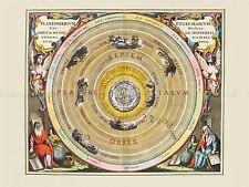 Spazio carta CELLARIUS macrocosmica tolemaica Planisphere REPLICA STAMPA pam2186