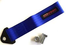 BLUE TOW STRAP EYE LOOP. For JDM Drift - Track - Racing - Rally
